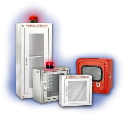 Wireless AED First Aid Wall Cabinet Customized Color With Alarm System